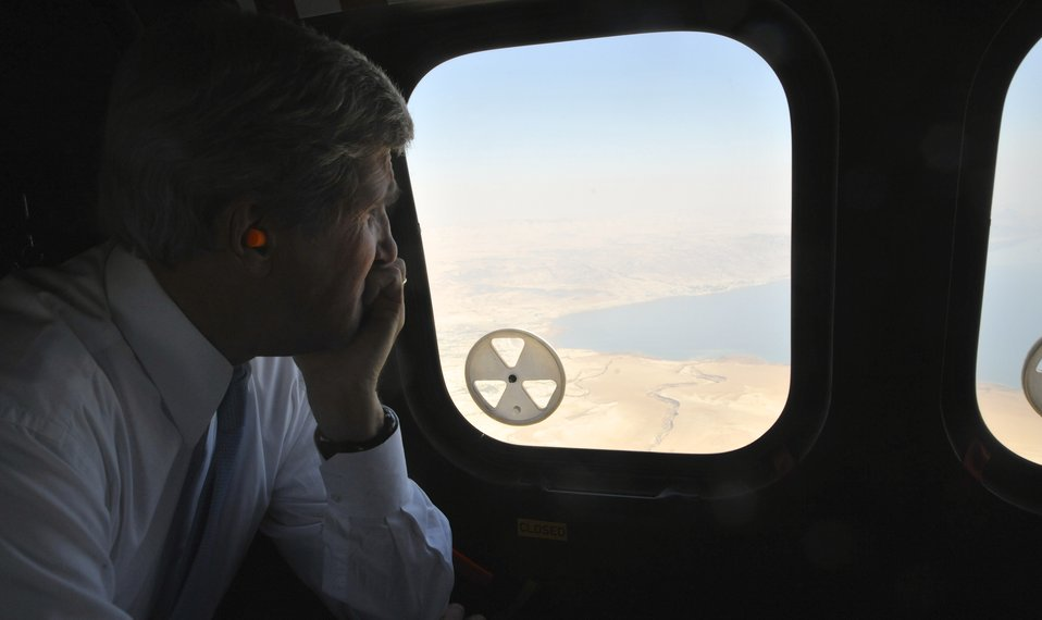 Secretary Kerry Looks Out Over the Dead Sea