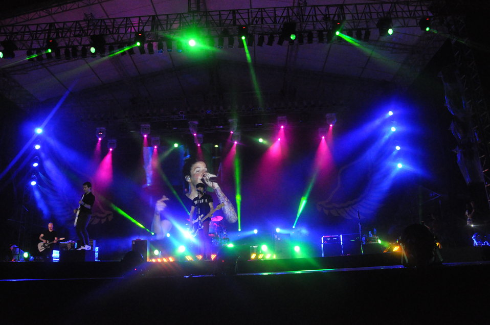Simple Plan performs at MTV EXIT concert in Hanoi against human trafficking