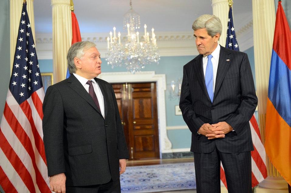 Secretary Kerry and Armenian Foreign Edward Nalbandian Address Reporters