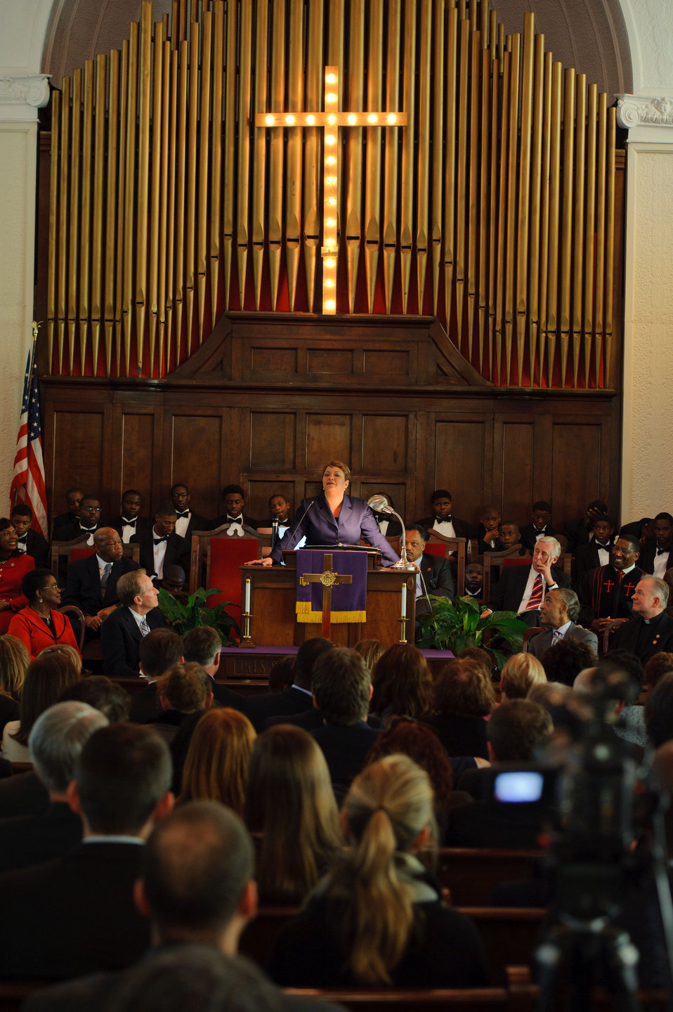March 4, 2012, EPA Administrator speaks to congregation at historic Brown Chapel AME
