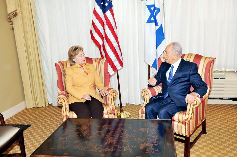 Secretary Clinton Meets With Israeli President
