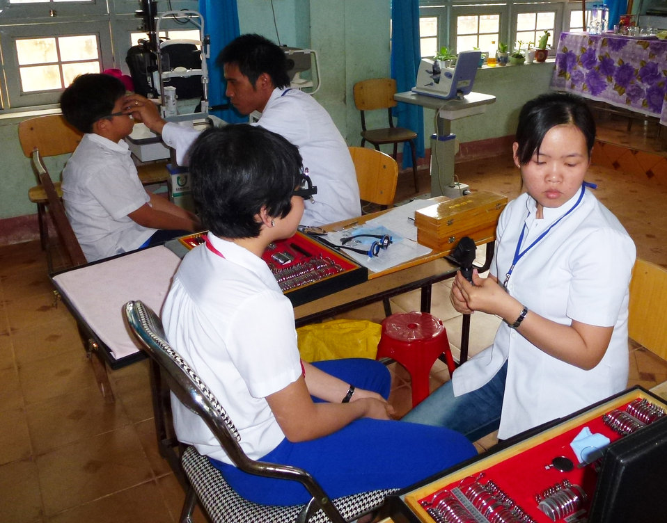 Eye screening at Phan Dinh Phung Primary School