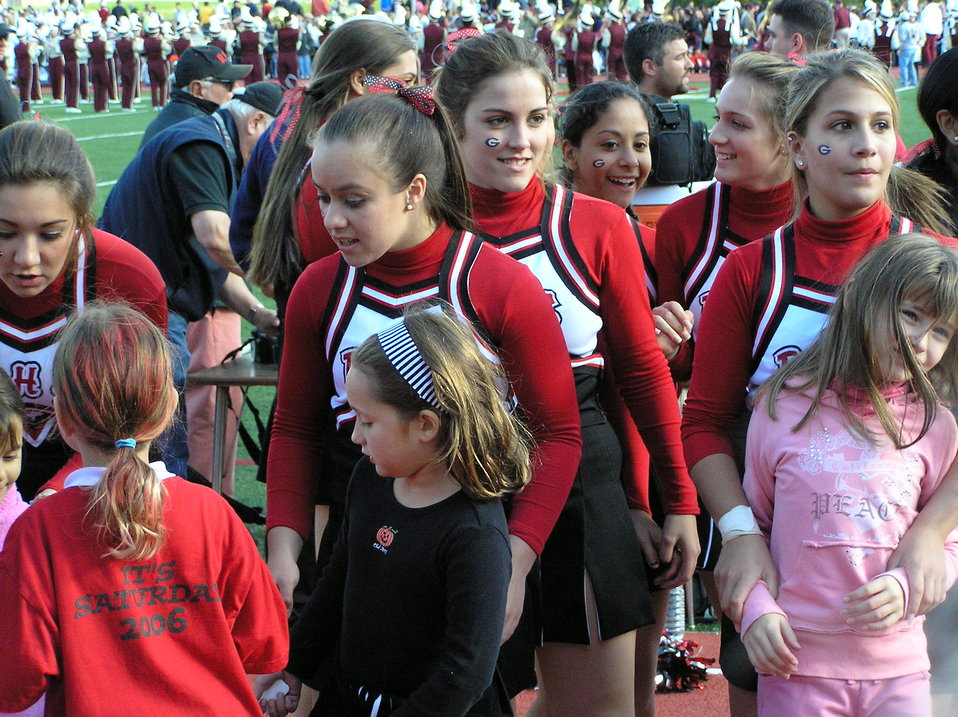 I took this photograph of the Rye High School, Rye, New York, cheerleaders at the 2006 Rye Harrison football game.