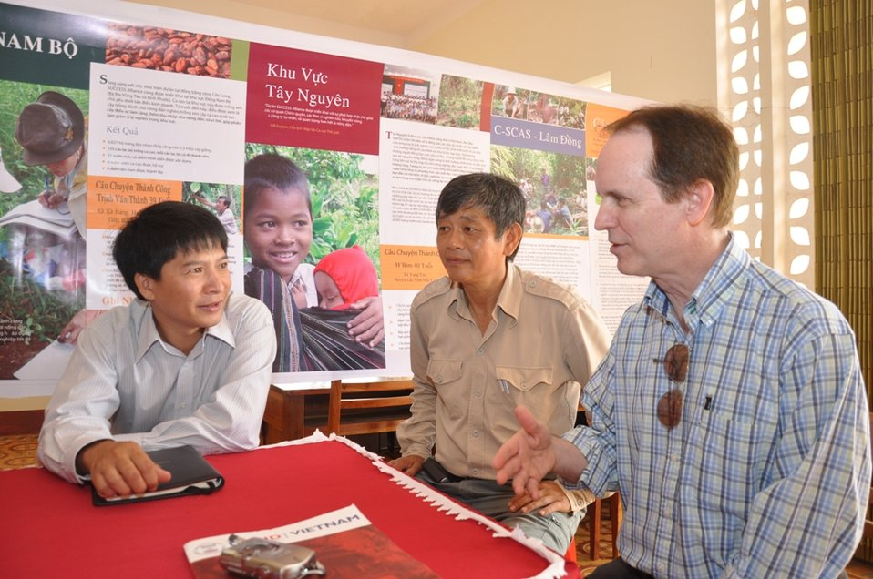USAID promotes sustainable cocoa farming in rural communities of central Vietnam.