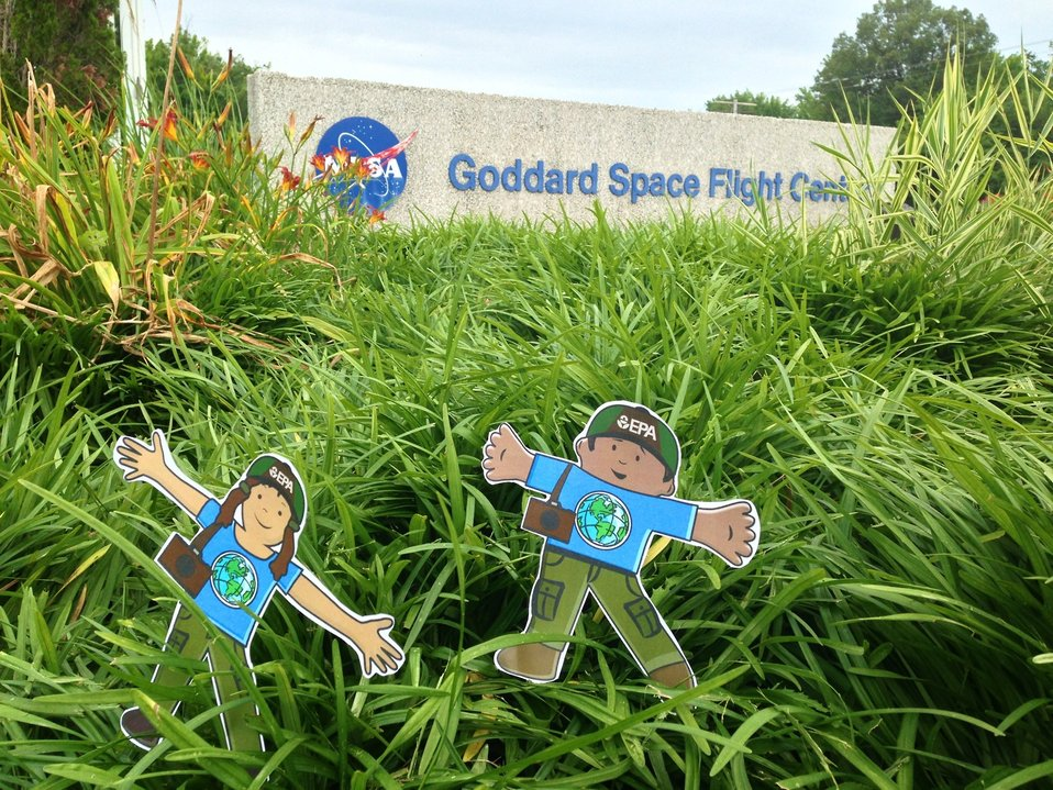 EPA's Stella and Stanley land at NASA's Goddard Space Center
