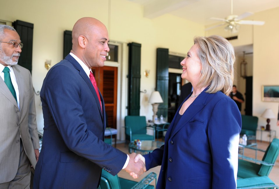 Secretary Clinton Meets With Haitian Presidential Candidate Martelly