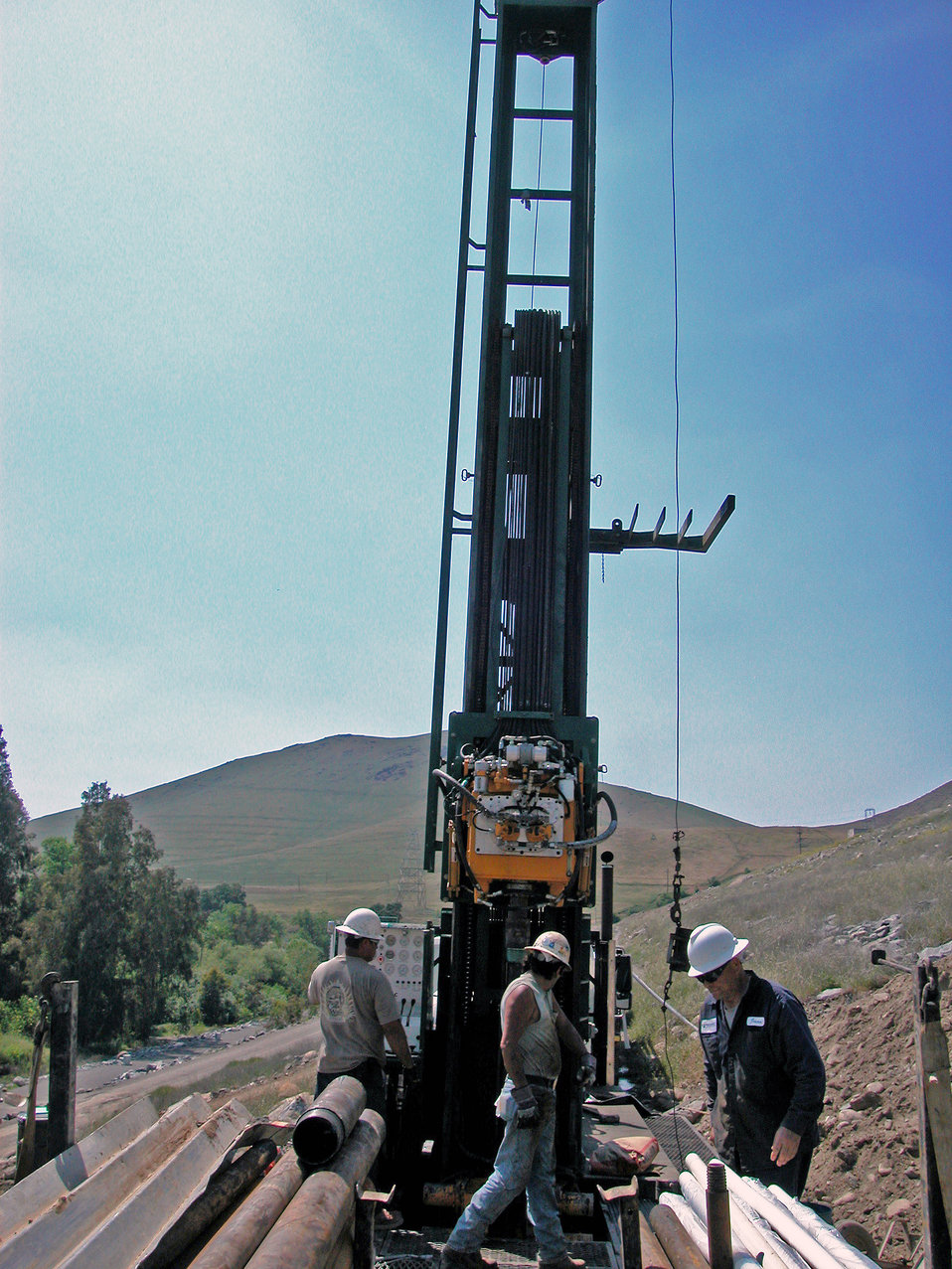 Corps drills borehole test sites at Success Dam
