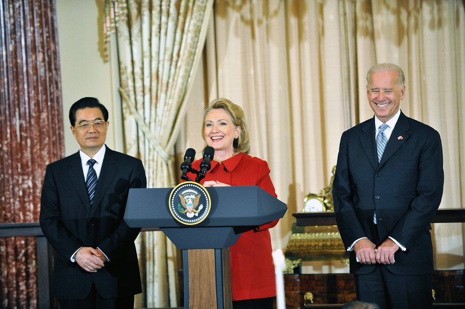 Secretary Clinton, VIce President Biden and Dr. Biden Co-Host a Luncheon in Honor of Chinese President Hu Jintao