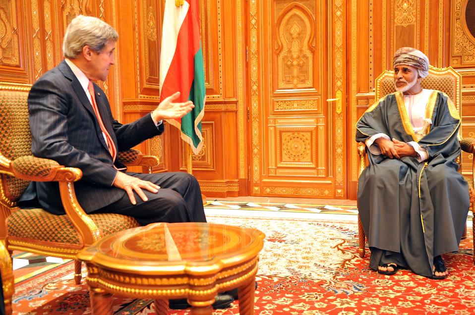 Secretary Kerry Meets With Omani Sultan Qaboos bin Said Al Said