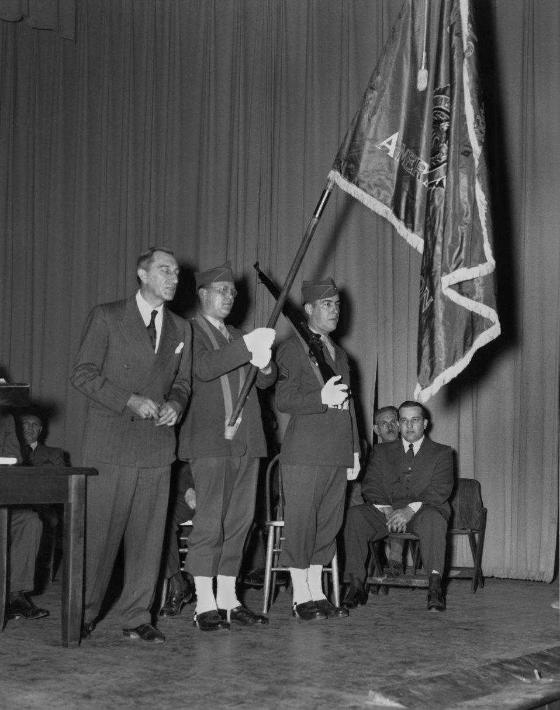American Legion Color Presentation 1945 Oak Ridge