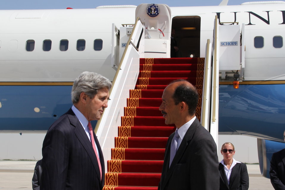 Ambassador Corbin Bids Farewell to Secretary Kerry