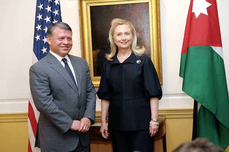Secretary Clinton Meets With King Abdullah II of Jordan
