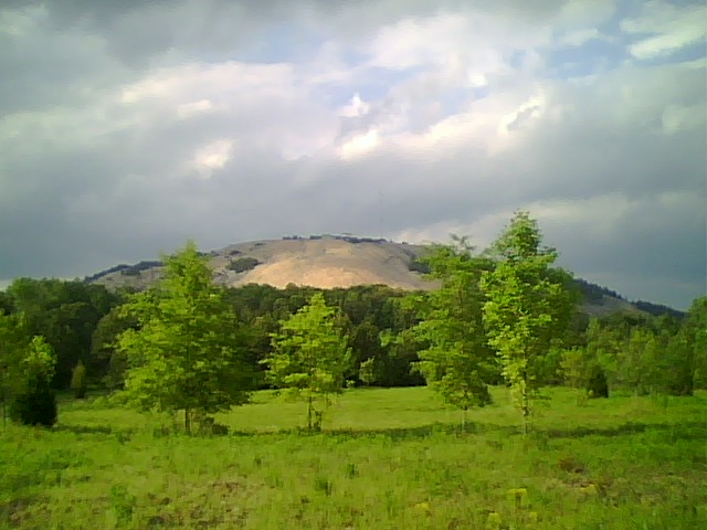 To show the back of Stone Mountain in Georgia as taken from the Songbird Habitat Trail, used as venue for archery and track cycling at the 1996 Summer Olympics in Atlanta.