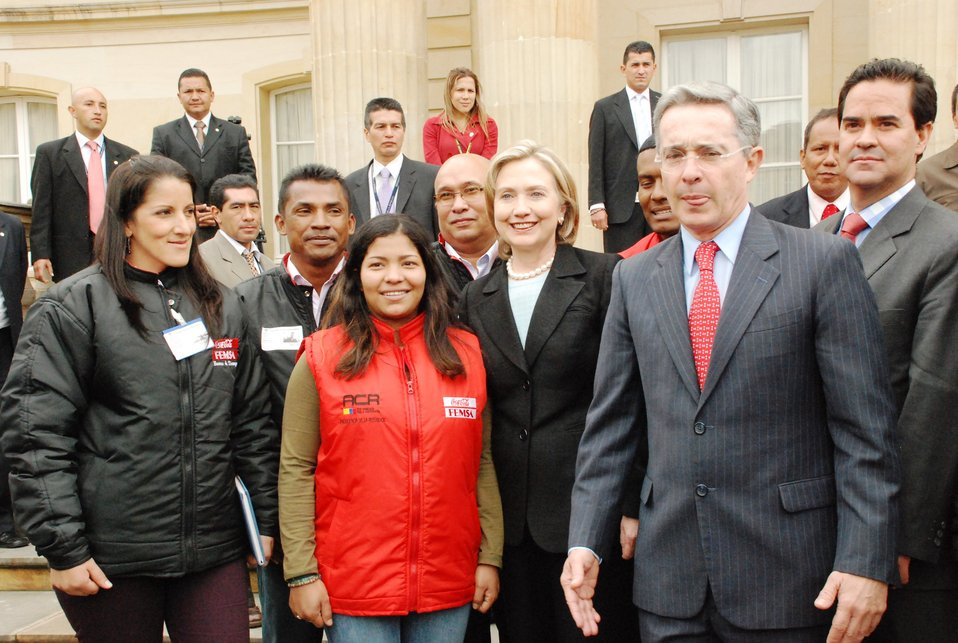 Secretary Clinton and President Uribe Meet With Former Rebels