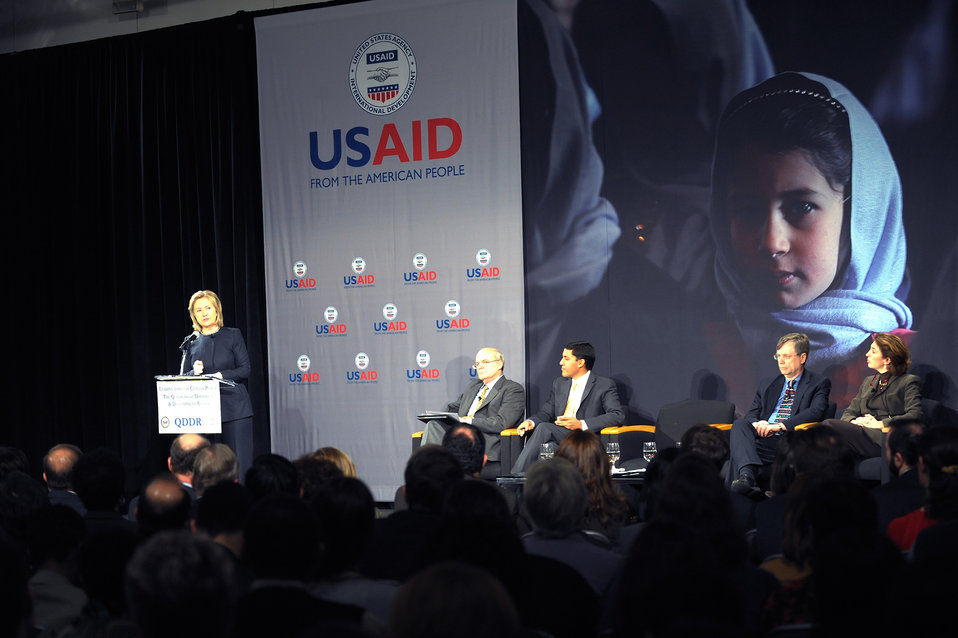 Secretary Clinton Delivers Remarks on the QDDR at USAID