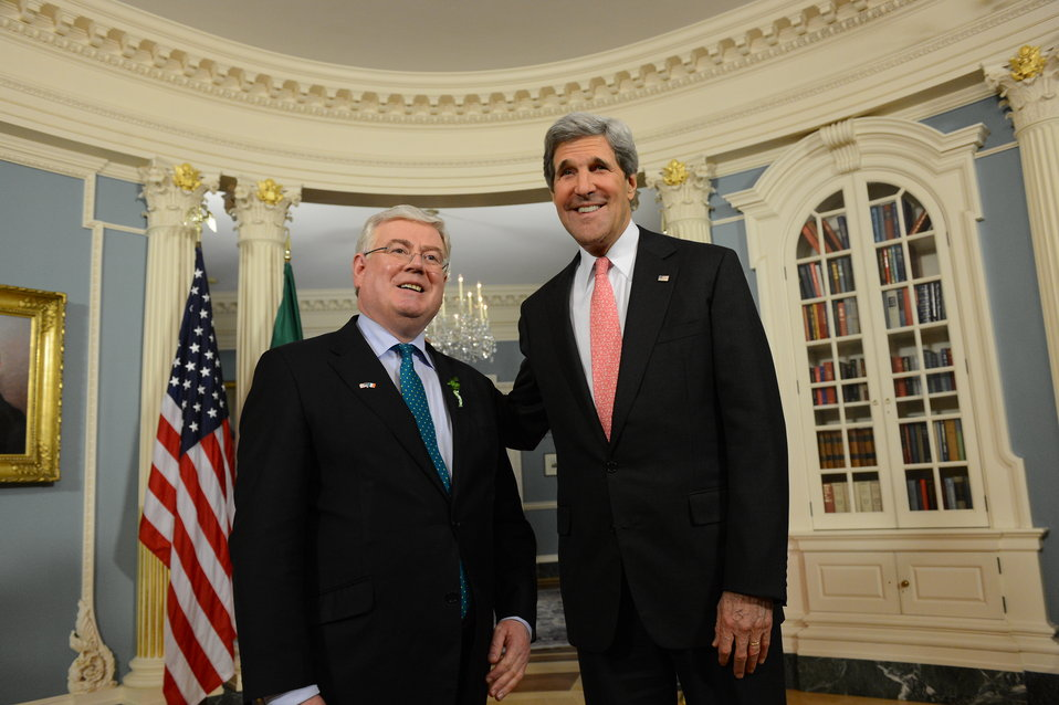 Secretary Kerry Meets With Tánaiste Eamon Gilmore