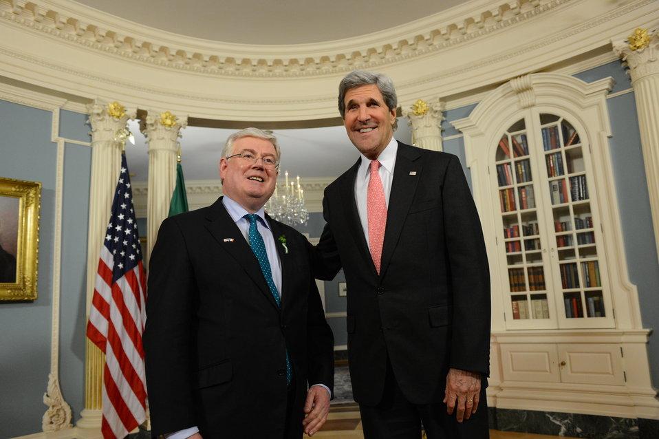 Secretary Kerry Meets With Tánaiste Eamon Gilmore