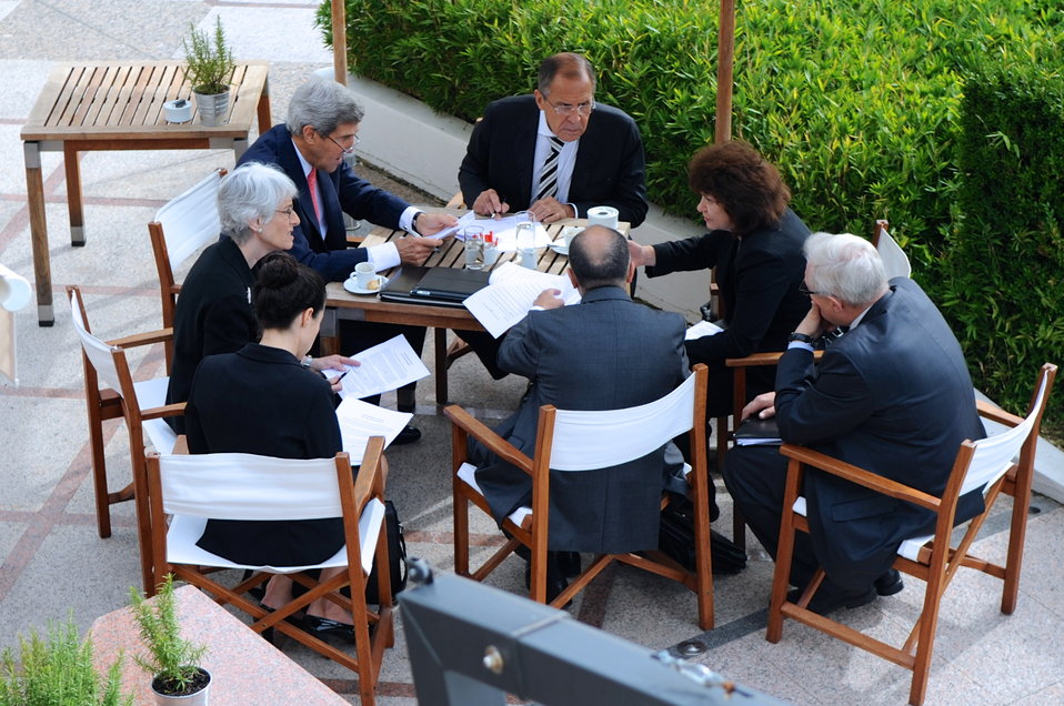 Secretary Kerry, Russian Foreign Minister Lavrov Hold Final Syria Negotiating Session