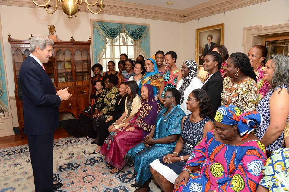 Secretary Kerry Meets With African Women's Entrepreneurship Program Delegates