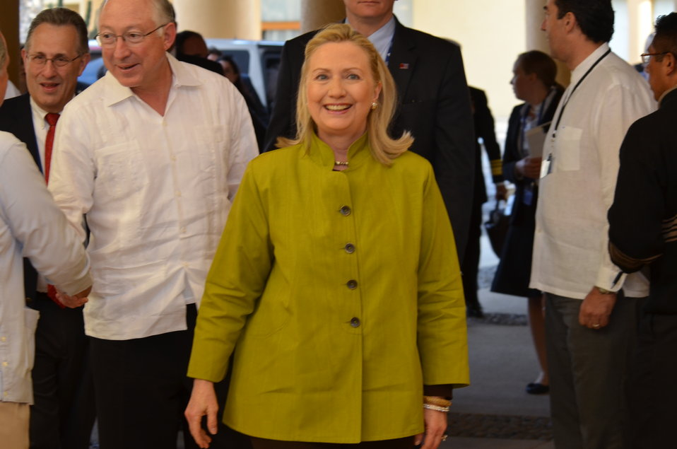 Secretary Clinton at Signing Ceremony for U.S.-Mexico Transboundary Hydrocarbons Agreement
