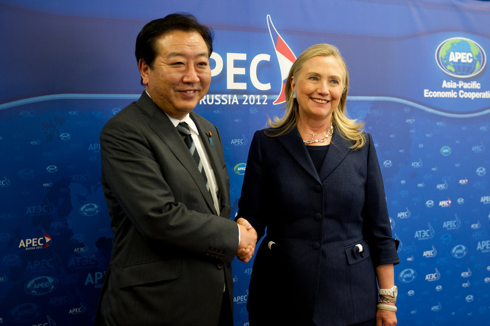 Secretary Clinton Meets With Japanese Prime Minister Noda