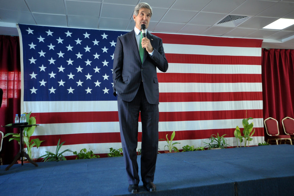 Secretary Kerry Addresses the Staff and Families of Consulate General Jeddah