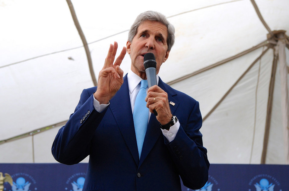Secretary Kerry Addresses Embassy Islamabad Staff
