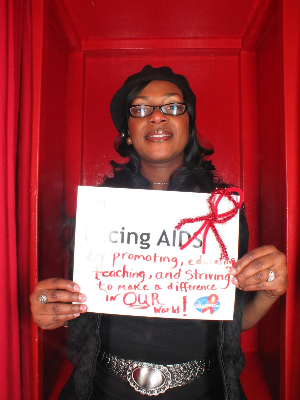 Facing AIDS promoting education, treaching and striving to make a difference in OUR world!