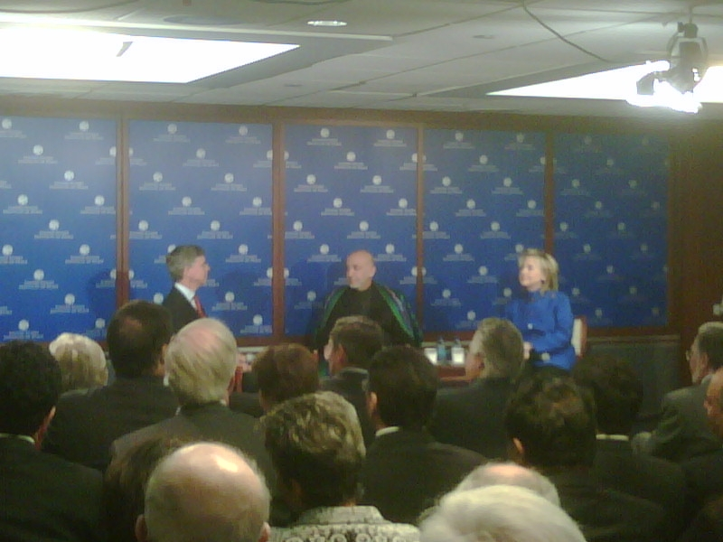 Secretary Clinton and Afghan President Karzai Deliver Remarks