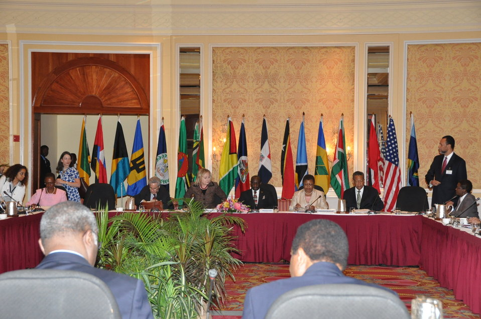 Secretary Clinton Co-Chairs a Meeting With CARICOM Ministers