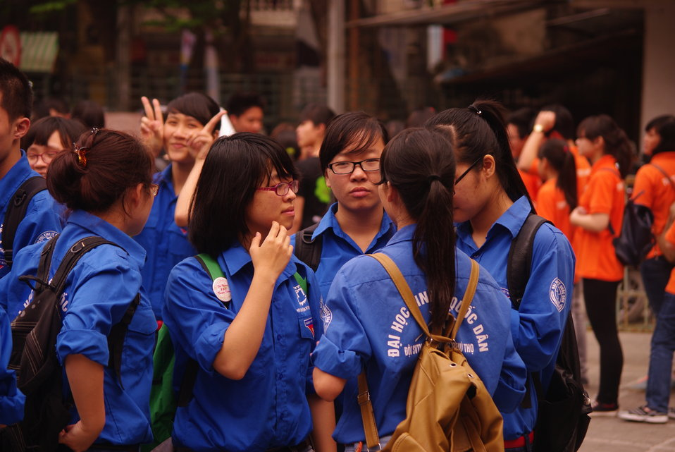 Youth Union Members at the World TB Day Event in Hanoi