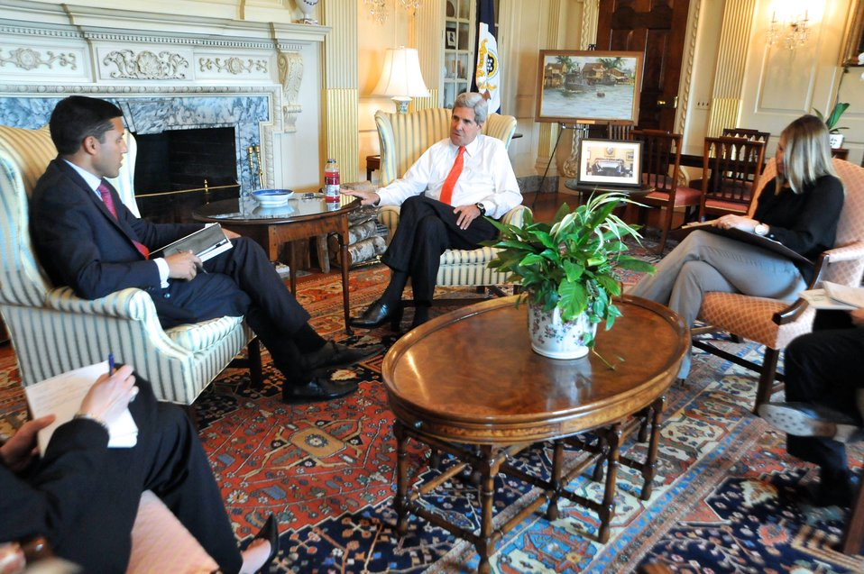 Secretary Kerry, Deputy Secretary Higginbottom, and Administrator Shah Discuss the Secretary's Upcoming Trip to Africa
