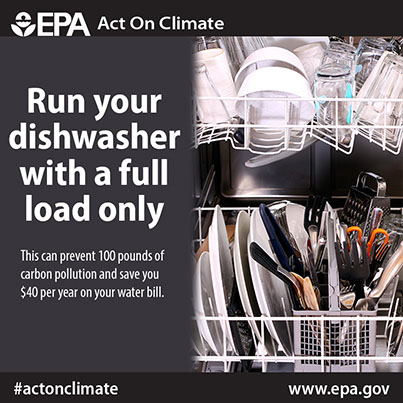 Run your dishwasher with a full load only