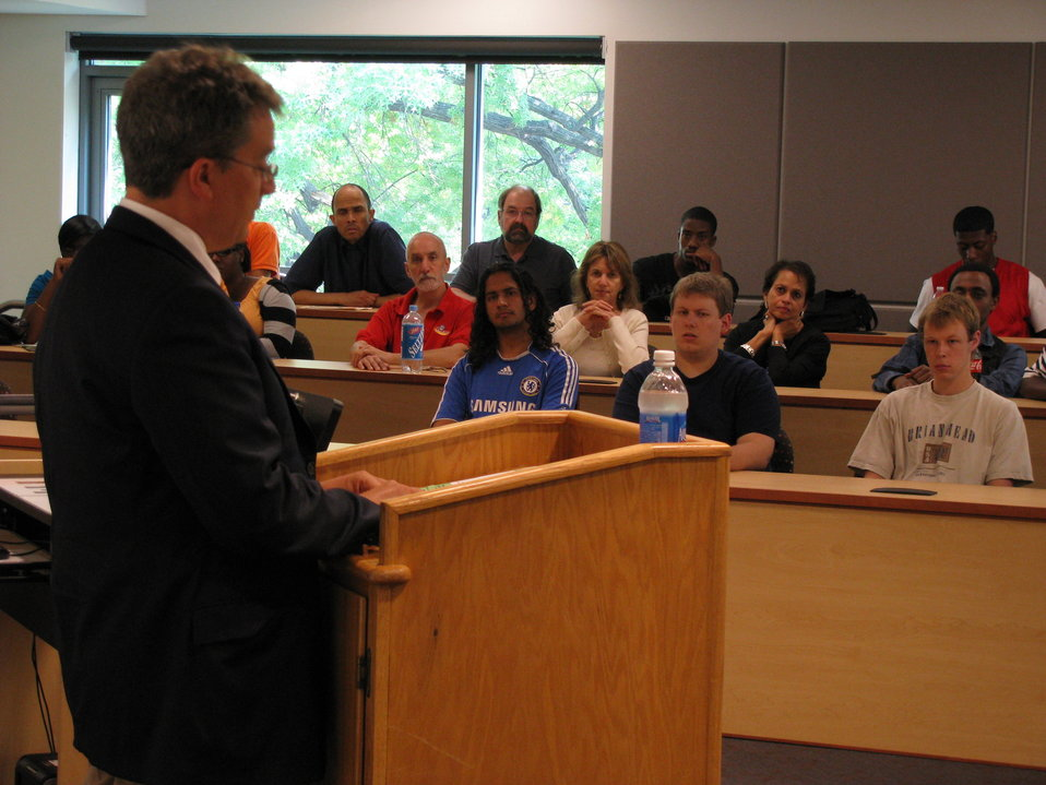 Ambassador Killion Speaks With Students at Montgomery Community College's Takoma Park Campus