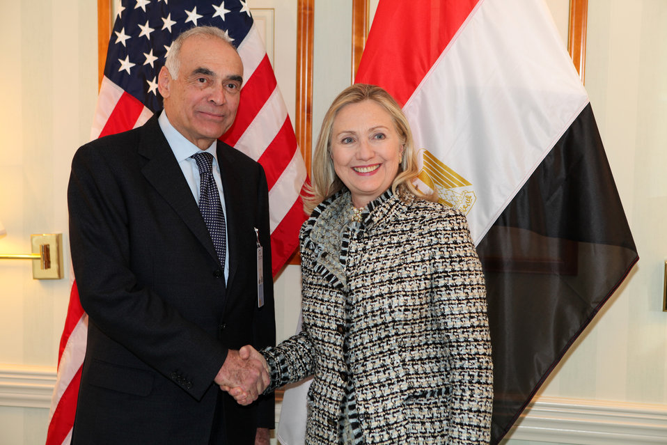 Secretary Clinton Meets With Egyptian Foreign Minister Amr