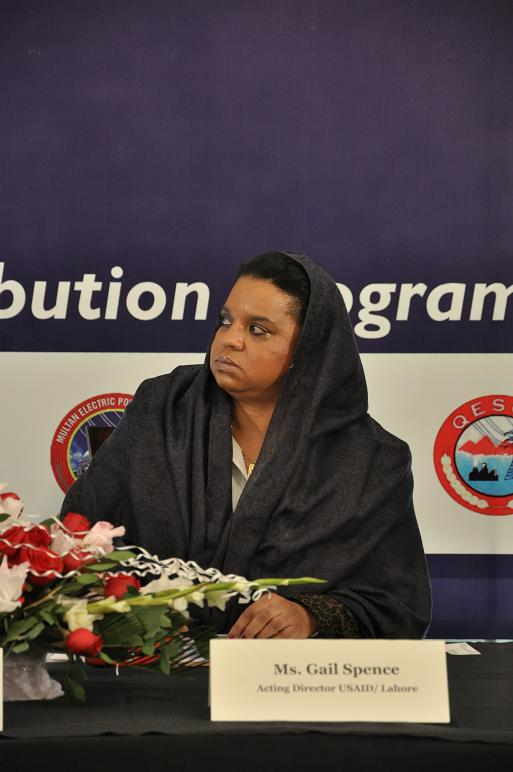 Chief Guest Gail Spence (Deputy Director USAID Punjab)
