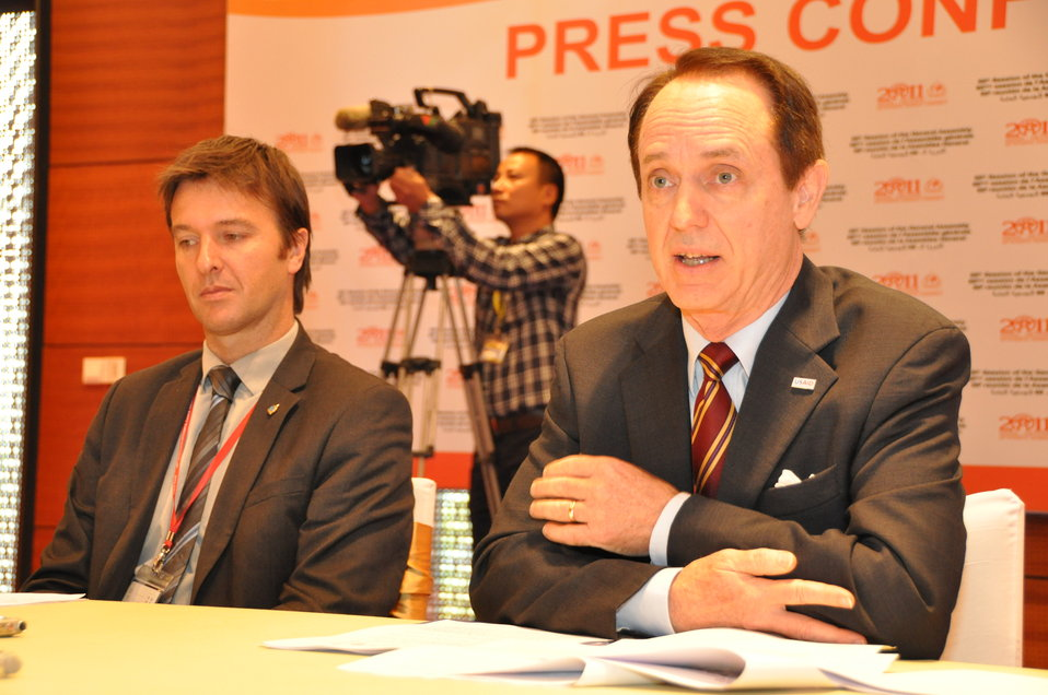 USAID Mission Director Francis Donovan at the INTERPOL General Assembly in Hanoi, November 2011