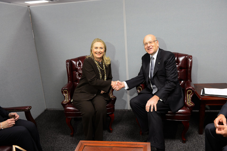 Secretary Clinton Meets With Prime Minister of Lebanon Mikati