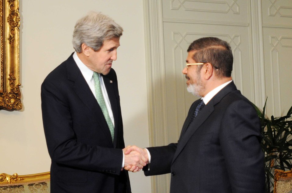 Secretary Kerry Meets With Egyptian President Mohammed Morsy