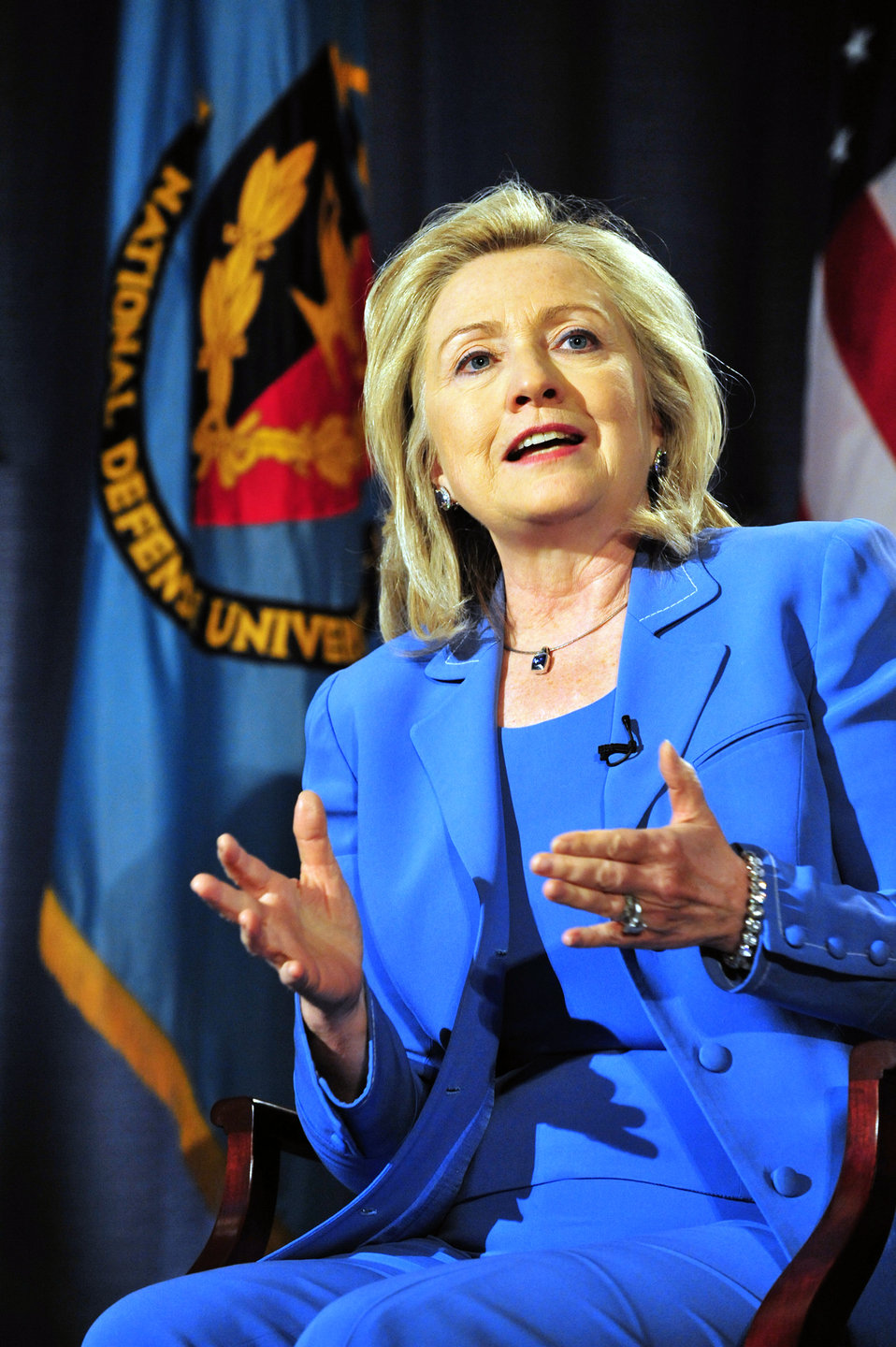 National Defense University Hosts a Conversation With Secretaries Clinton and Panetta