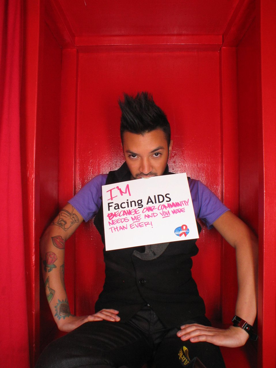 I'm Facing AIDS because our community needs and and you more than ever!