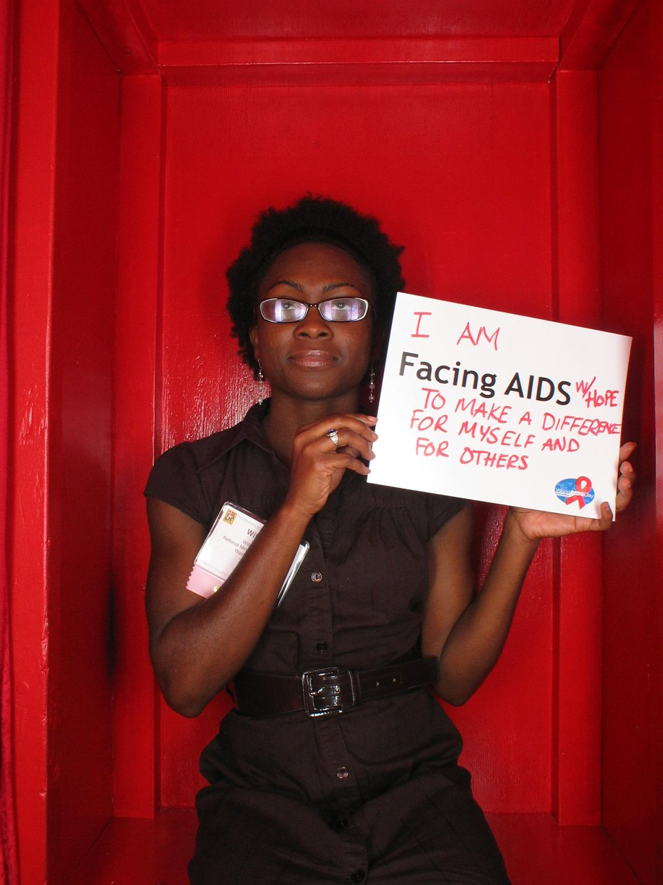 I am Facing AIDS with hope to make a difference for myself and others.