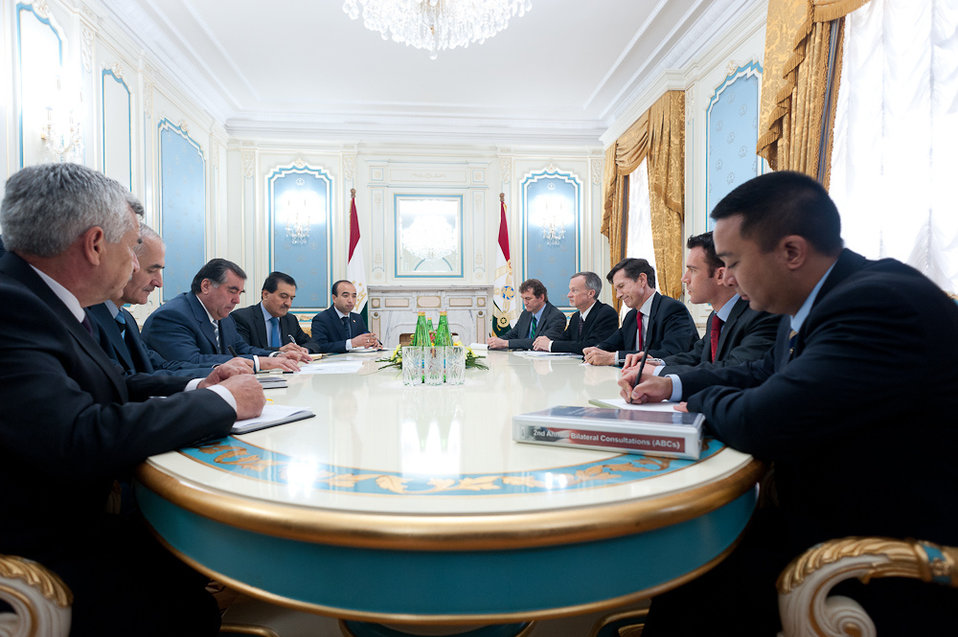 Assistant Secretary Blake Leads U.S. Government-Interagency Delegation to U.S.-Tajikistan Annual Bilateral Consultations