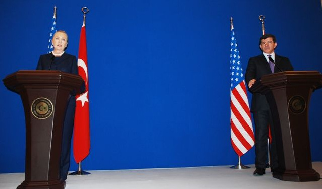 Secretary Clinton and Turkish Foreign Minister Davutoglu Address Reporters