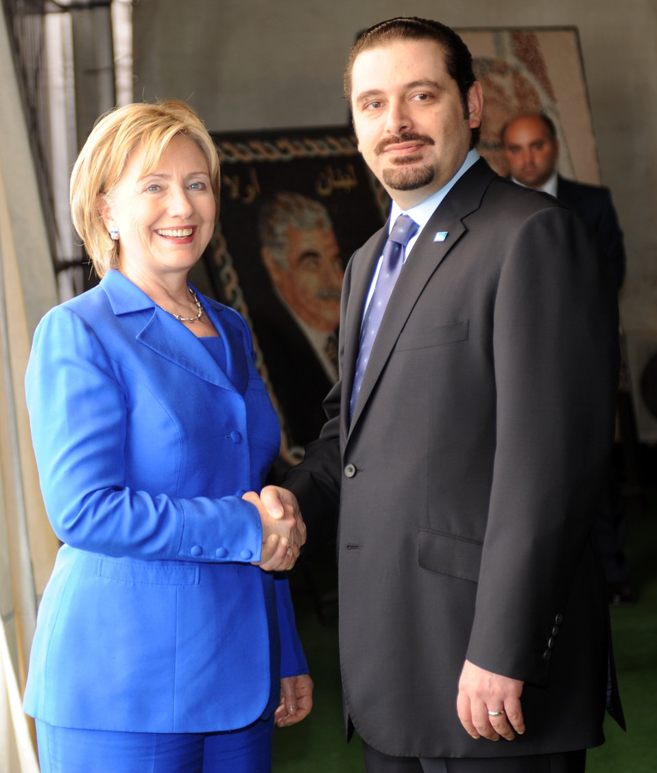 Secretary Clinton Visits With Saad Hariri