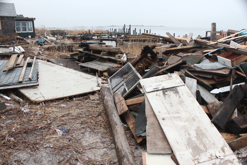 December 8, 2012 Searching for hazardous containers among Sandy's debris