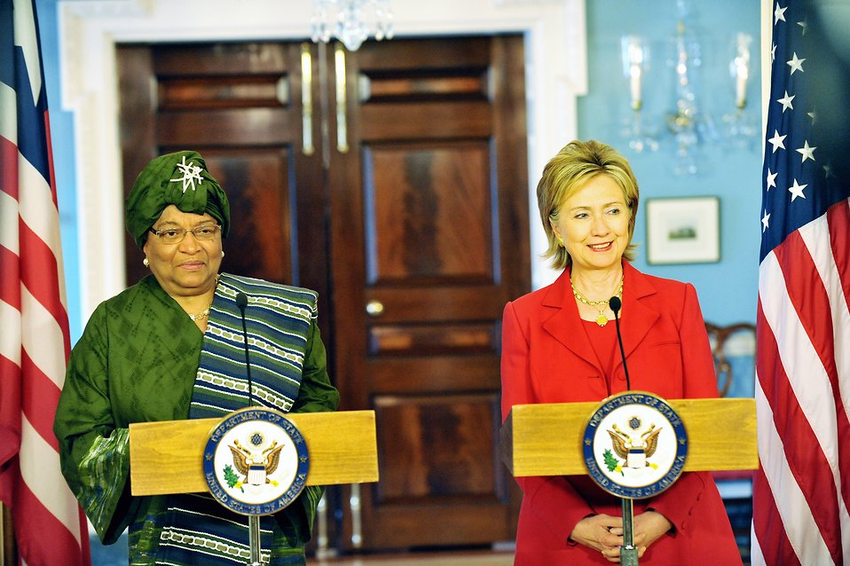 Secretary Clinton Meets With Liberian President