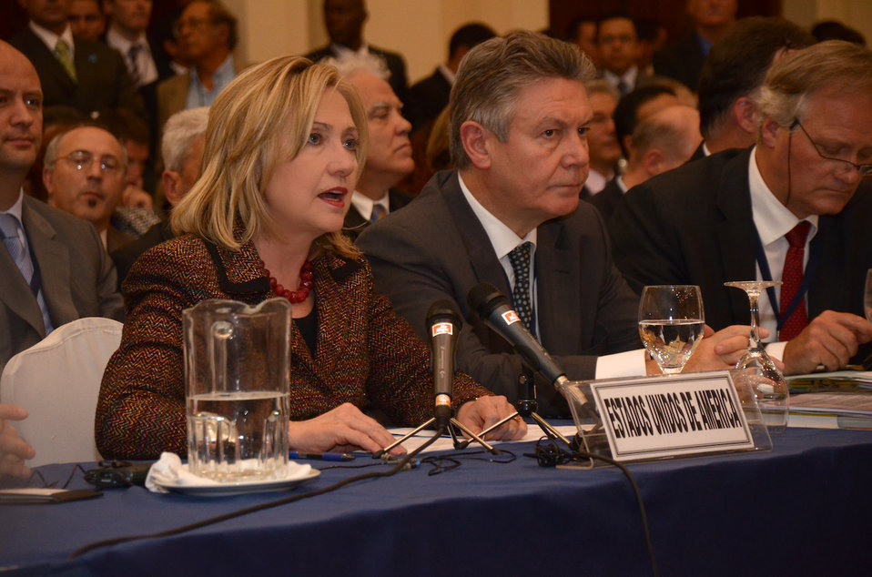 Secretary Clinton Speaks at the SICA