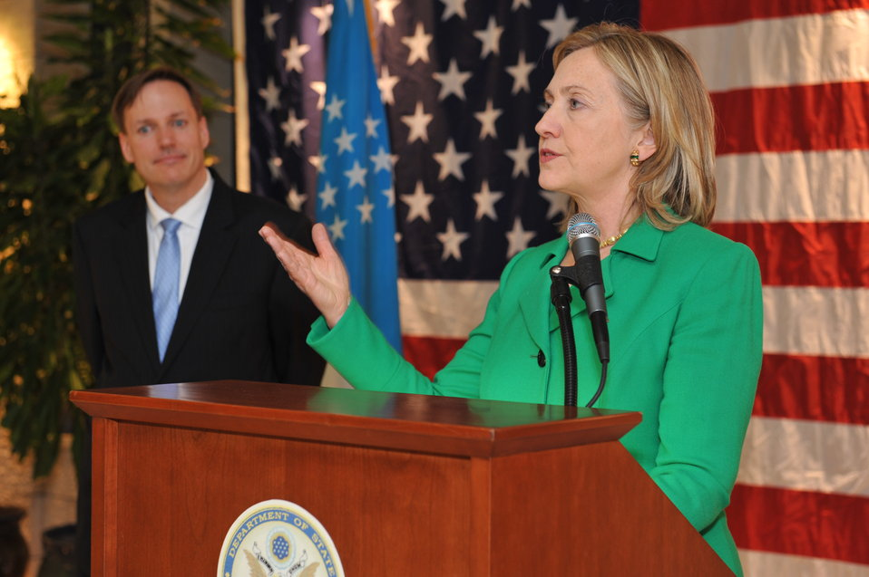 Secretary Clinton Speaks to the U.S. Embassy Tashkent Community