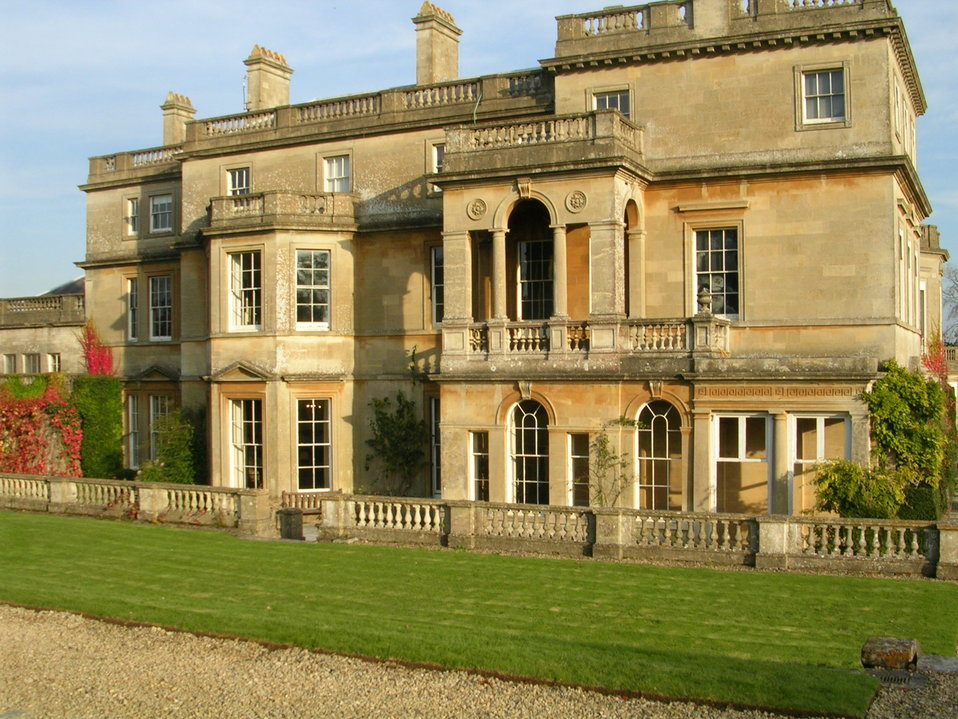 House in Wiltshire photographed by User:Giano who releases all rights into the public domain. 18th century mansion built of Bath stone, with Italianate alterations.